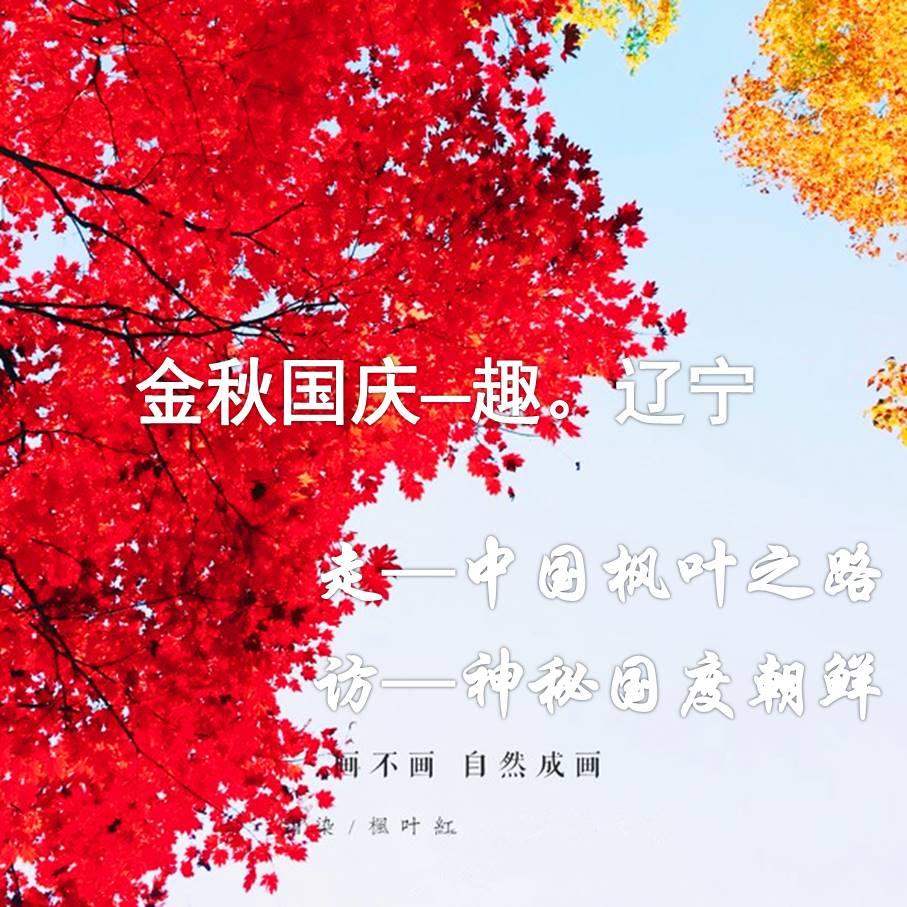 【国庆】追寻国旗的颜色,探寻神秘的国度朝鲜,醉美金秋,枫叶之都、辽宁赏枫之旅(独家)